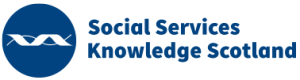 The Social Services Knowledge Scotland (SSKS) logo, which links to the SSKS website.